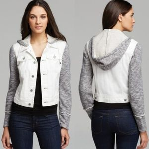 Free People Distressed Denim Jacket | Large